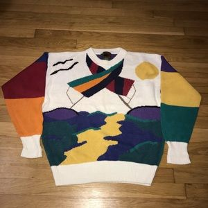Vintage Boston Traders Sweater Hong Kong Medium